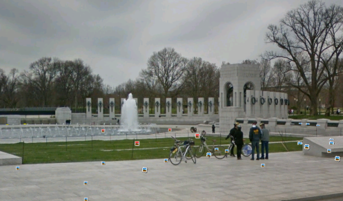 waterfall at world war II memorial