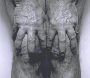 Self-Portrait (Hands Spread on Knees) 1985 by John Coplans 1920-2003